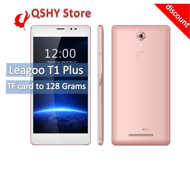 Original LEAGOO T1 Plus 16GB ROM 3GB RAM Smartphone 5.5 inch IPS Screen Android 6.0 OS MTK6737 Quad Core 1.3GHz 4G FDD-LTE 13MP