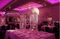 Бесплатная доставка Свадебные украшения серебристый металл + Хрустальная Люстра Подсвечник