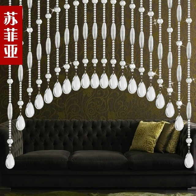 Cheap Sophia Curtain Crystal Finished Off The Entrance Hanging Toilet Living Room Feng