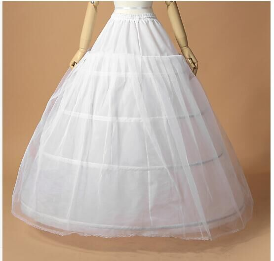 3 Hoops One Layer Tulle Crinoline For Ball Gown Wedding Dress White Jupon Mariage Petticoat In Stock Wedding Underskirt