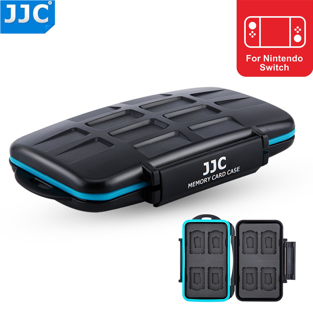 JJC NS Game Video Card Case Memory Cards <font><b>Bag</b></font> Micro SD Storage Box Water-Resistant Holder Protector for Nintendo Switch image