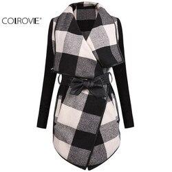 в 2014 году осеннего моды марки desigual женщин верхней одежды - одежда горячей продажи случайные белое черным длинные рукава пальто в пояс