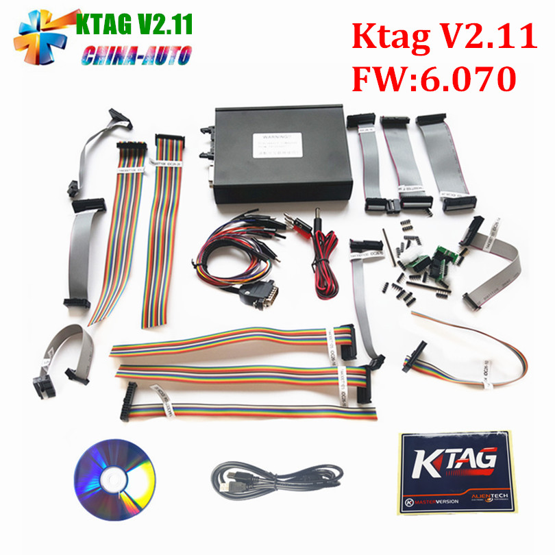 V2.11 FW V6.070 KTAG V2.11 K-TAG ECU Programming Tool Master Version with No Token Unlimited