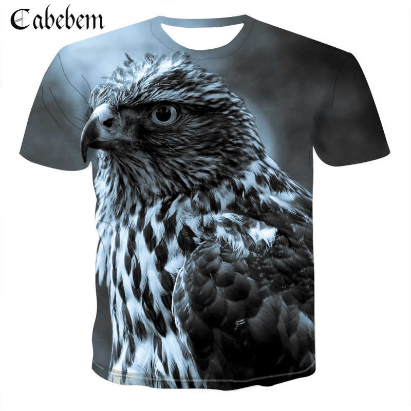2019 New Animal T Shirt 3D Eagle Lion Wolf Owl Print Summer T-shirts Men Women Plus Size Tee Shirt Homme Camiseta Dropship