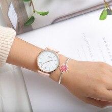 2018 TIBOAT Brand Fashion Simple Japan Quartz Movement Watch Leather Strap Nylon Clock Women Analog Waterproof Wristwatch