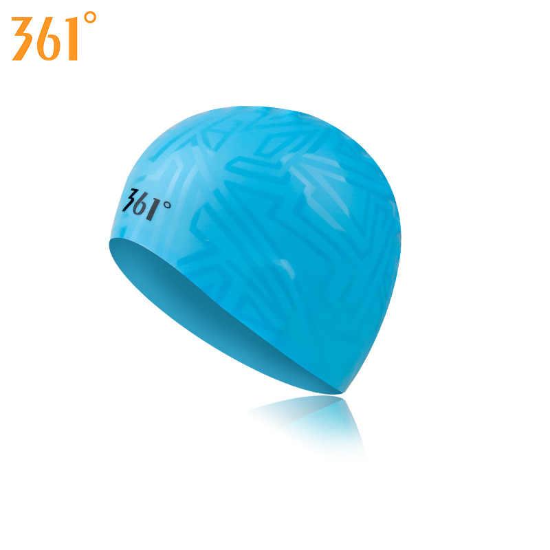 361° Unisex Silicone Elastic Swimming Cap Waterproof Long Hair Solid Swim Hats Hot Spring Pool Swim Training Adult Swim Cap