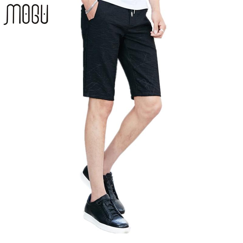 MOGU Printed Shorts Men 2017 Summer New Arrival Fashion Casual Shorts Slim Fit Knee Length Mens Shorts Asian Size Shorts For Men