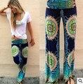 2015 весна и осень мода женские причинные спортивный широкие брюки ноги цветочные сук мода широкий брюки