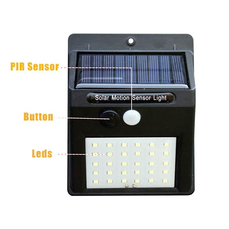 Led Solar Night Light PIR Motion Sensor Wall Light Waterproof 16/20/25/30 LEDs Energy Saving Outdoor Garden Security Solar Lamp 15