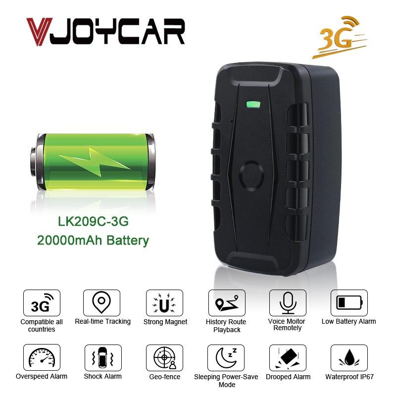 3G voiture GPS Tracker LK209 aimant véhicule GPS localisateur 20000 mAh 10000 mAh longue veille étanche choc goutte alarme application Web gratuite