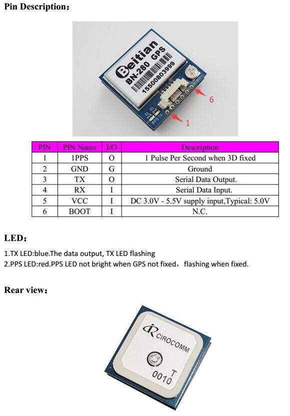 UART TTL Level GPS GLONASS Dual GNSS Module UBLOX M8030 NEO-M8N Solution  GPS Module