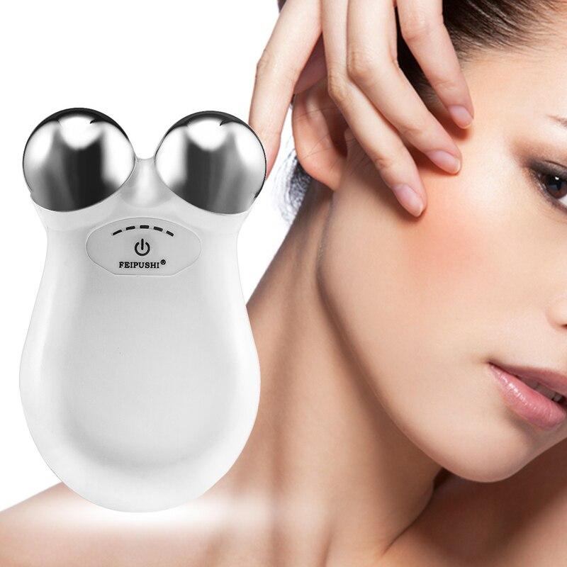 2019 Neuestes Design Mini Micro-strom Gesicht Massager Gesichts Lifting Hautstraffung Schönheit Gerät Entfernen Falten Haut Verjüngung Toning Massage