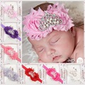 Newborn Cute Baby Pearl Crown Rose Flower Hair Band Chiffon Lace Baby Headband Ribbon Elasticity Hair Accessories Headwear