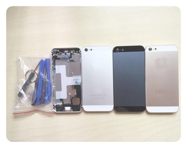 Полный шасси Fundas Ассамблеи Для iphone 5 5g 5S iphone5 Назад металлический корпус сплава крышка батарейного отсека 5S как SE Розового Цвета + инструменты