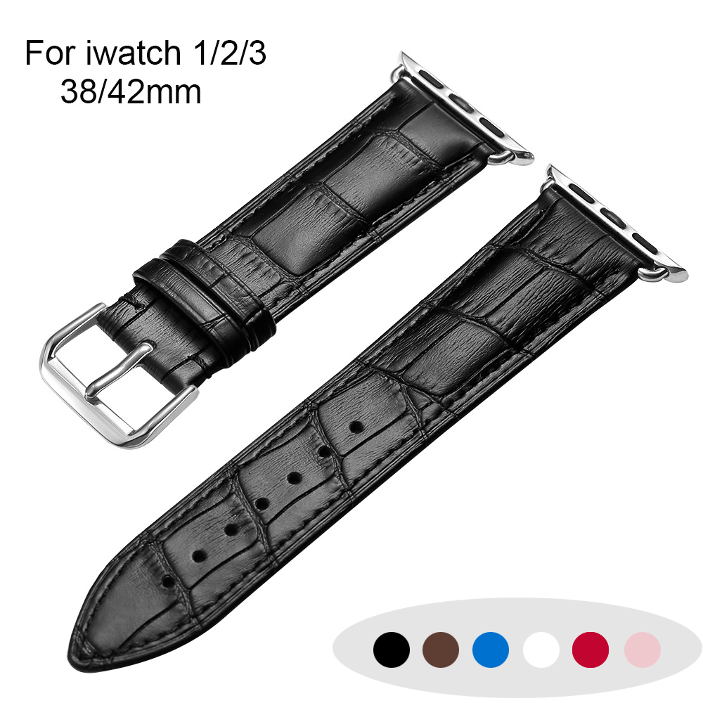 Watch band Strap For Apple Watch Bands Bracelet 38mm 42mm Series 1 2 3 For iWatch High Quality Genuine leather Classic Bands брюки подростковые nike dry academy18 pant 893746 451