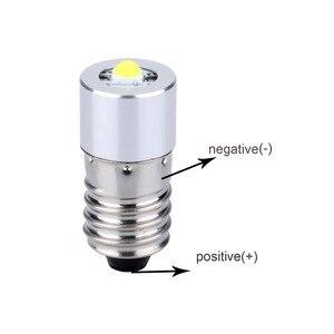 1W E10 LED linterna antorcha de reemplazo de bombillas con LED de chips epistar actualización bombilla luz blanca fresco + C + D Cell AA celular