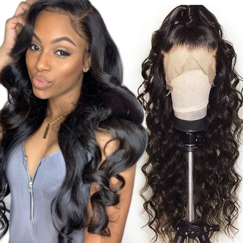 Alibele Brazilian Loose Wave Lace Front Human Hair Wigs For Black Women Remy Hair Wig With