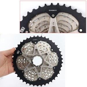 Image 3 - 시마노 DEORE M6000 CS M4100 HG500 HG50 10 속도 산악 자전거 freewheel MTB 카세트 스프로킷 11 36T 11 42T