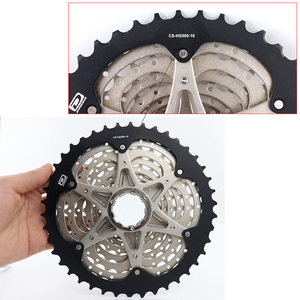 Image 3 - SHIMANO DEORE M6000 CS M4100 HG500 HG50 10 Speed Mountain Bike freewheel MTB CASSETTE SPROCKET 11 36T 11 42T