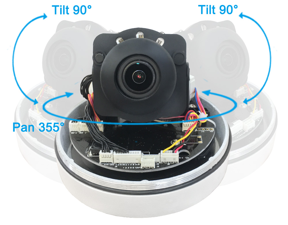 19201080 2MP WiFi PTZ Camera 4XZoom Auto High Resolution Waterproof Wireless Infrared 1080P IP Dome Camera CamHi APP Indoor 4