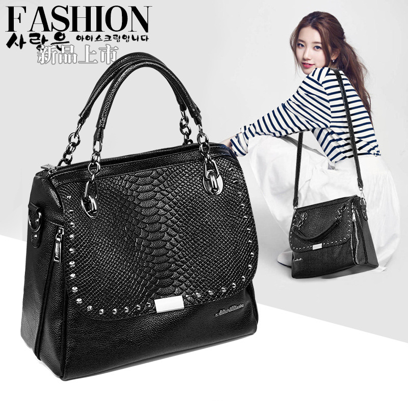2016 korean tassels weave handbag fashion concise single shoulder package woman package 2016 new handbag shoulder bag lady snake portable fashion Dingchao Liu package 168-70X
