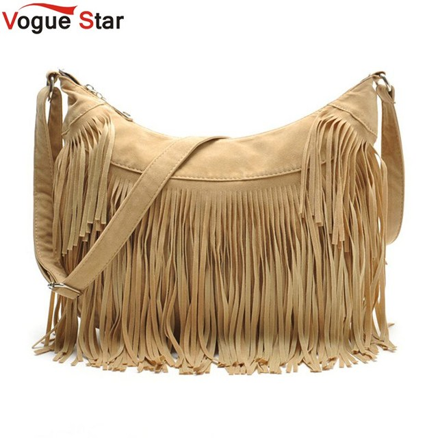 Vogue star flecos borla bolsa bolsas mensajero de las mujeres bolsos de marcas famosas bolsas de marca de moda femenina cruzada cuerpo bolsa yb40-397