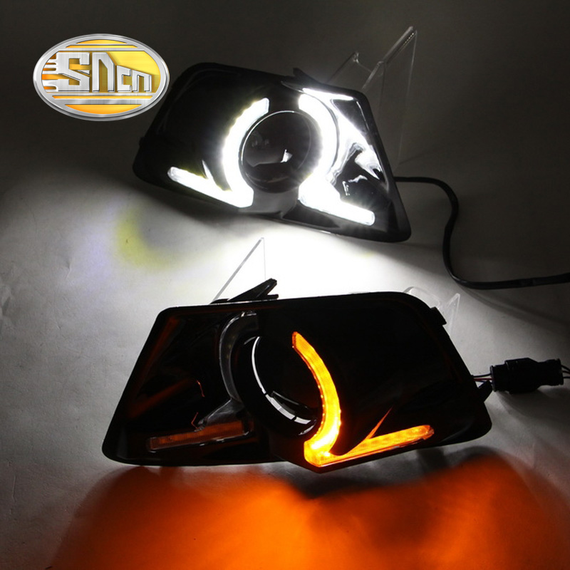 SNCN LED Daytime Running Light For Ford Ecosport 2013 2014 2015 2016,Car Accessories Waterproof ABS 12V DRL Fog Lamp Decoration high quality 12v 6000k led drl daytime running light case for ford ecosport 2013 2014 fog lamp frame fog light super white