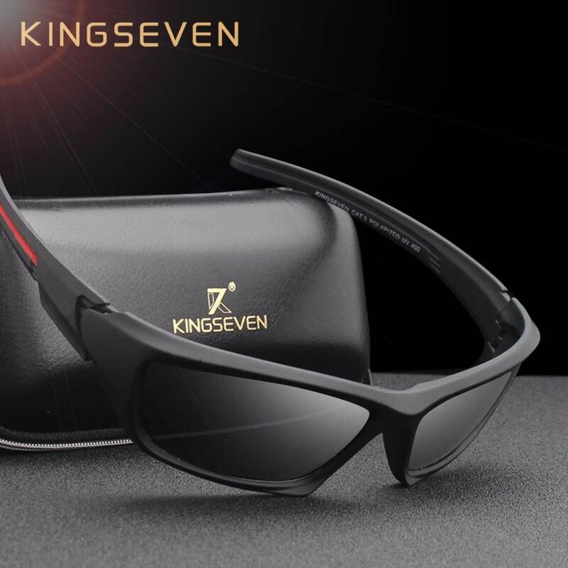 559d9137a4f18 KINGSEVEN Moda Óculos Polarizados Condução Óculos de Sol Dos Homens  Designer de Marca de Luxo Do Vintage Masculino Óculos de Sombra UV400 em  Óculos de sol ...