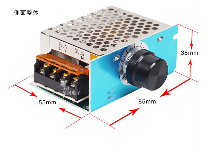High Freeshipping AC 220V Power 4000W SCR Controller Electronic Volt Regulator Governor Thermostat Dimming SCR Dimmer guitar print knot side dress