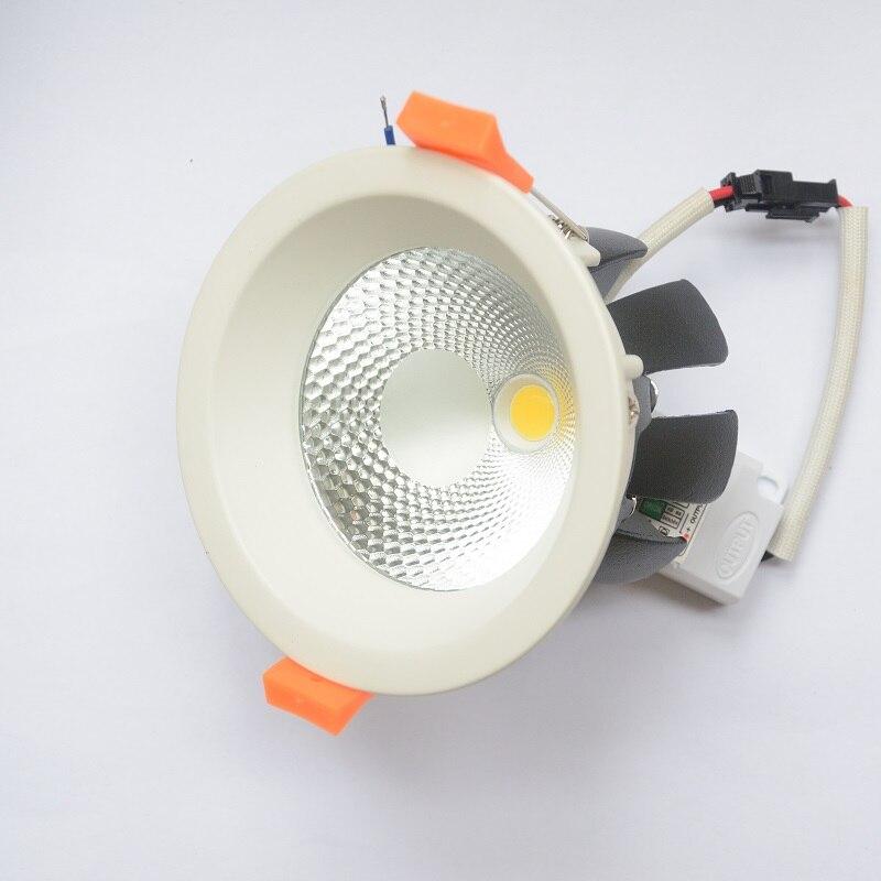 Nový Cob Led Downlight 30W 20W 15W 12W 9W 7W 4000K Bodové LED světlo High Bright Epistar Chip Home Commercial Lighting 110V 220V