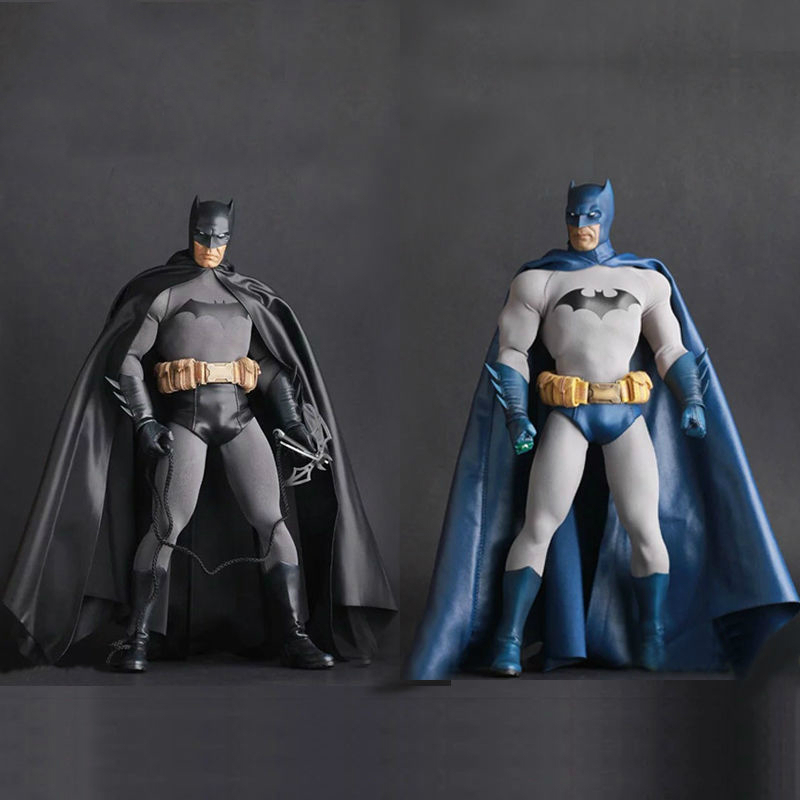 DC Comic Batman The Dark Knight Armored Batman Blue&Black Action Figure Anime Doll Toy Collectible Model Toys for Children Gift