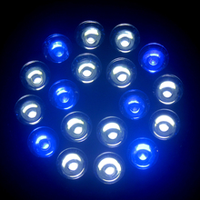 LED Grow Lights 4X E27 54W 18X3W  12 White+6 Blue Coral Reefs and fishes Aquarium LED Lighting Blue and Cool White  lighting