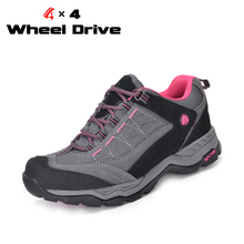 4X4 Wheel Drive Women Outdoor Waterproof Shoes Hiking Shoes Breathable Shock Absorption Shoes Female Sneakers Free Shipping