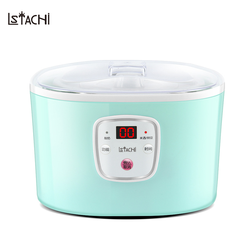 LSTACHi 1L Glass Cup Fermentation Yogurt Natto Rice Wine Maker Smart Stainless Steel Tank Full Automatic Machine In Appliances