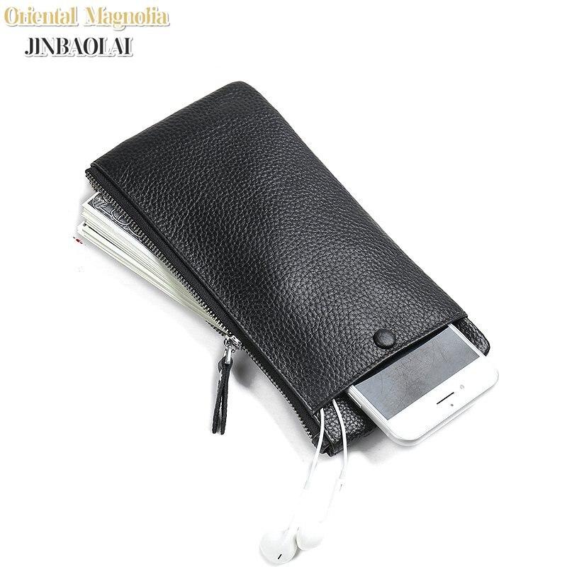 JINBAOLAI New Design Äkta Läder Plånbok För Män Mans - Plånböcker - Foto 2