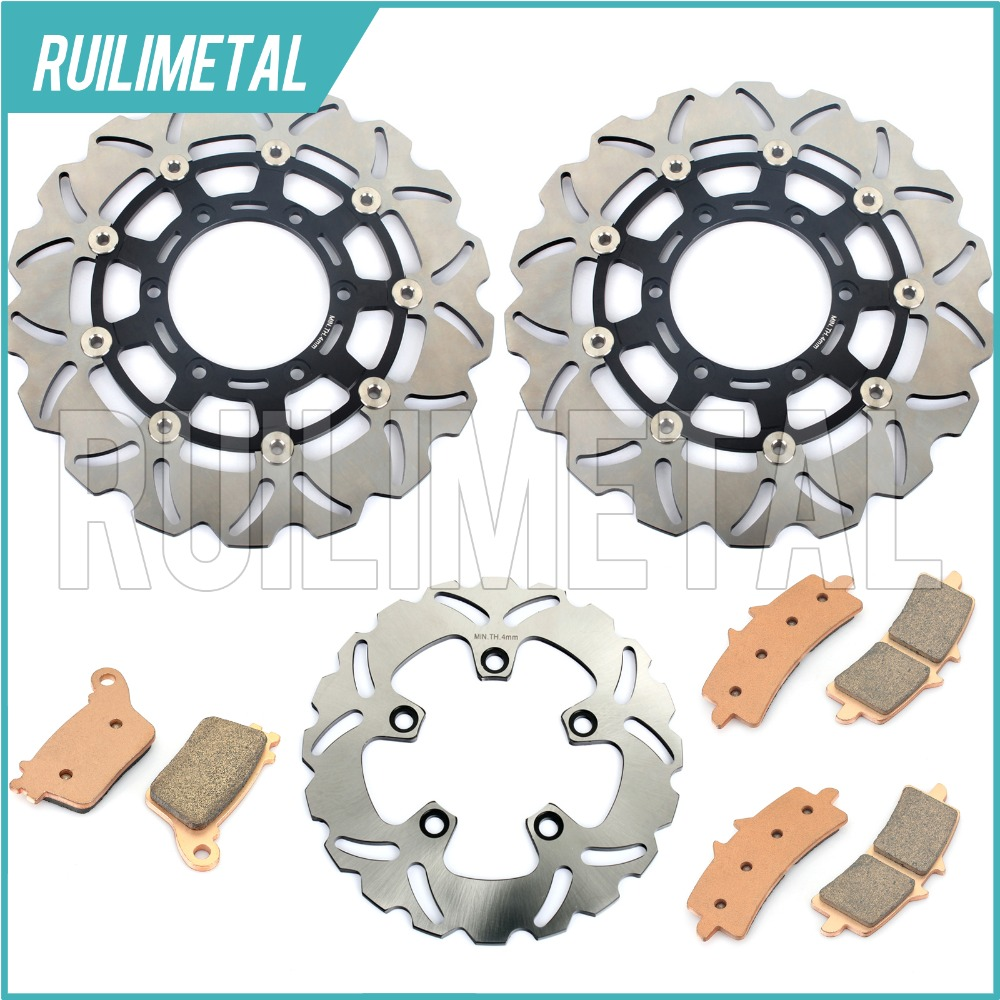 Front Rear Brake Discs Rotors Pads Set for Suzuki GSXR 600 750 11 12 13 14 15 2011 GSX-R 1000 2012 2013 2014 2015 чемодан vel bags 2014 24 20 28