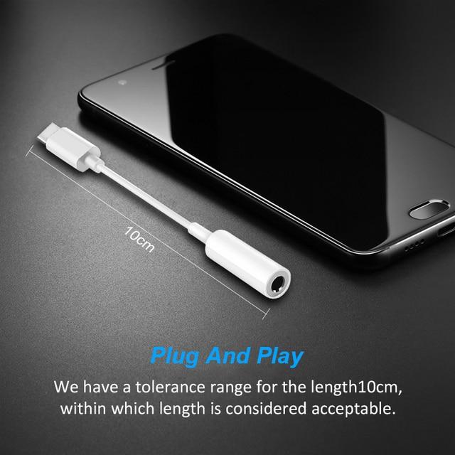 Adaptador trenzado de 5 tipos USB tipo C a auriculares de 3,5mm auriculares Cable adaptador de Audio Convertidor para Android Xiaomi teléfono