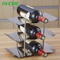 . Fashion Stainless steel wine holder hanging fashion bar wines shelf creative frame wall thickening wine