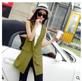 Summer winter  Europe style  female ladies spring chiffon  suit vest women's long vest solid color loose
