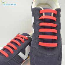 540489c23 12 قطعة/زوج أزياء للجنسين حذاء رياضي الجري no التعادل أربطة النساء الرجال  مطاطا سيليكون الرباط جميع رياضية تناسب حزام