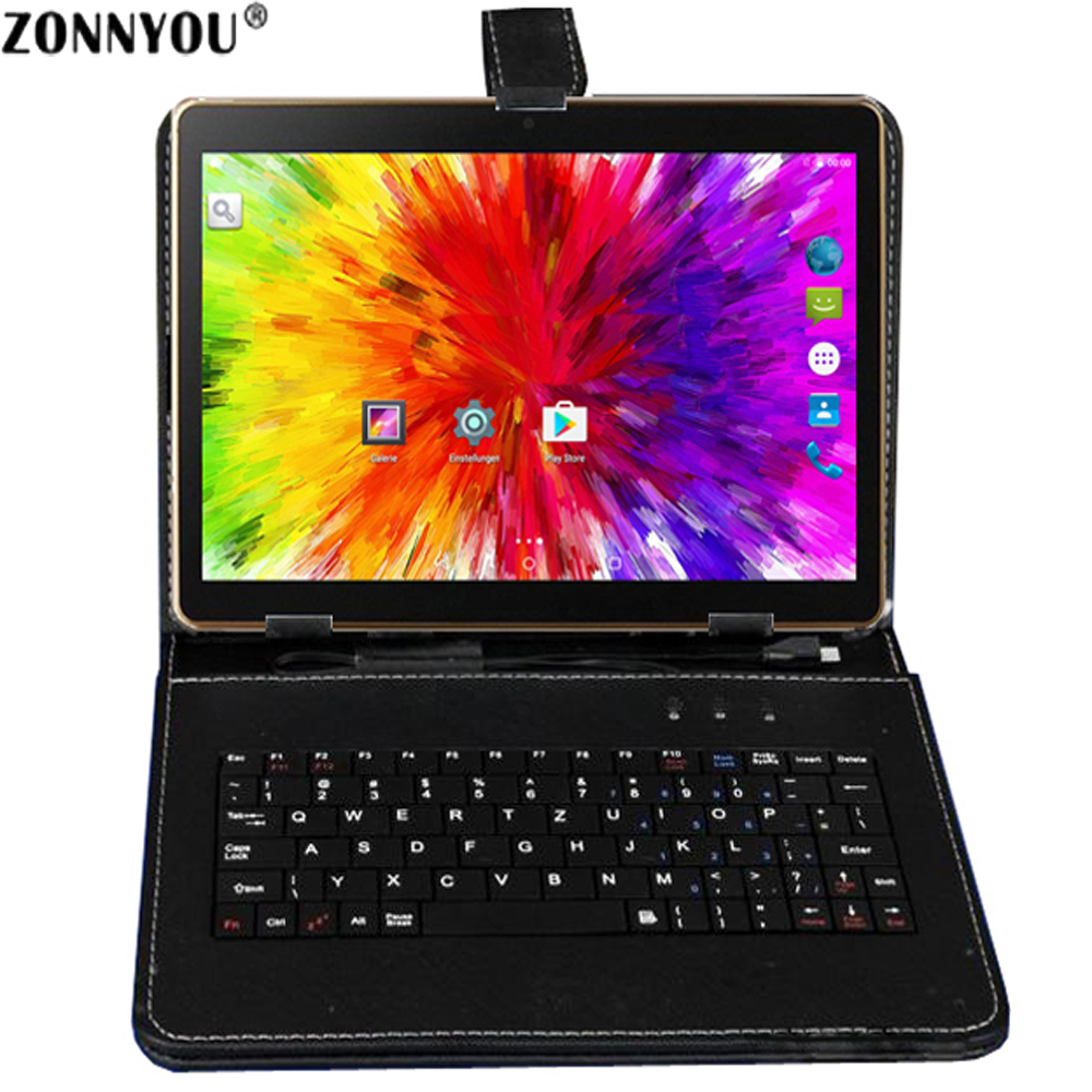 10.1 Tablet PC Android 7.0 3G Appel Octa-core 1.5 GHz 4 GB Ram 32 GB Rom intégré 3G Bluetooth Wi-fi GPS + Clavier