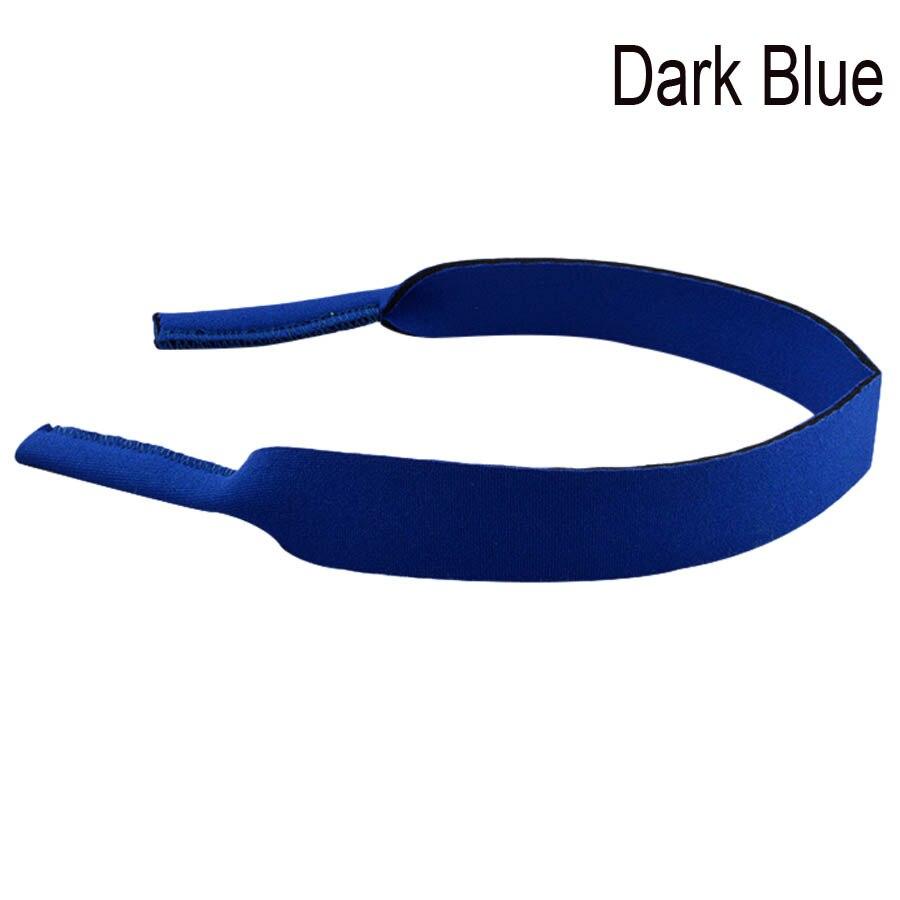 Хорошее качество взрослых очки неопрена Эластичный Спортивный ремешок шнур держатель 38 см 10 шт./лот - Цвет: Dark Blue