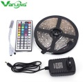 RGB LED Strip 5050 Waterproof 5M 150LEDS SMD +44Key Remote Controller + 12V 2A Power Adapter Outdoor LED Diode Tape Ribbon Light