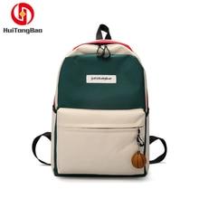 Women Backpack Student Zipper Canvas High Quality Travel Bag Ita Bookbag