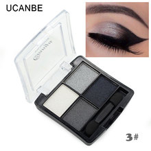 maquiagem professional 4 colors fashion glitter eyeshadow palette natural cosmetics naked font b makeup b font