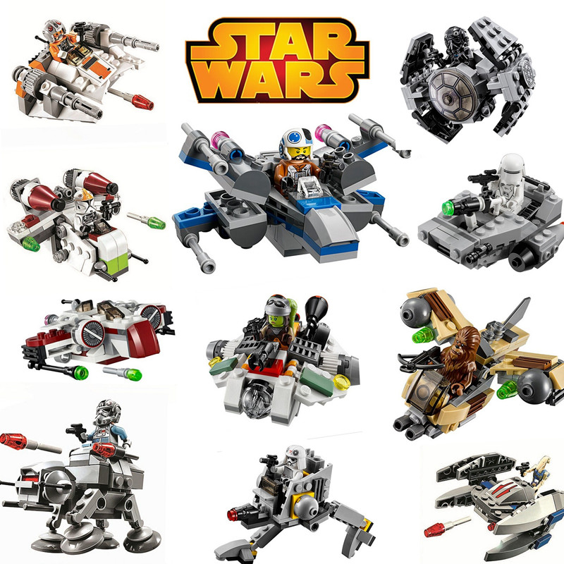 DC Super Heroes Brick Block Star Wars Rogue One Warships Spaceship Clone troopers Ships Building Blocks toys Figures