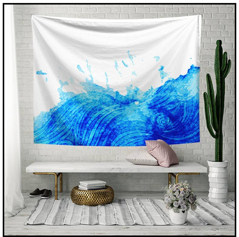 Image 5 - Psychedelic Tapestry Wall Hanging Cartoon Elephant Sun Moon College Dorm Decor Geometric World Map Beach Towel Background Cloth-in Tapestry from Home & Garden