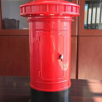 Retro British Mailbox Dimming LED Night Light Saving Pot Decor USB Rechargeable