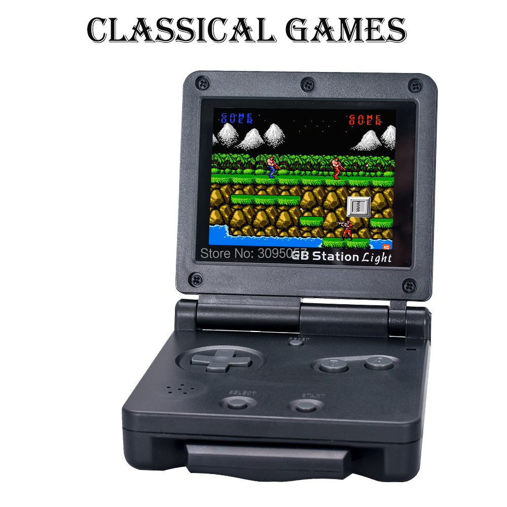 Wolsen portable handheld game console with 103 games 39 games in cartridge For GB station light in Video Game Consoles from Consumer Electronics