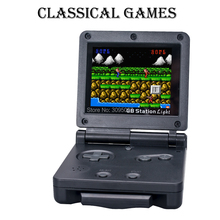 Wolsen portable handheld game console with 103 games /39 in cartridge For GB station light